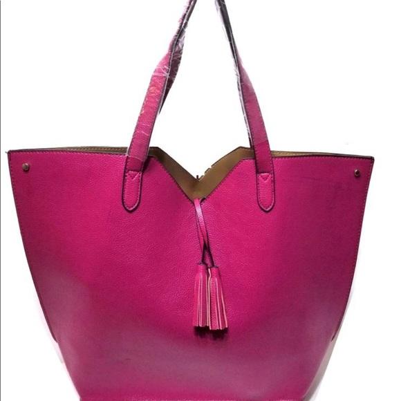 Neiman Marcus Handbags - Neiman Marcus Magenta Pink Tote/Shopper